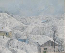 """""""Един зимен ден"""", 46х55"""