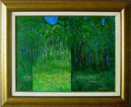 Hristo Nikolov, <em>Summer forest</em>, 41х55