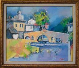 <p>Valentin Asenov-Hakaia, <em>Landscape with Bridge</em>, 50х60</p>