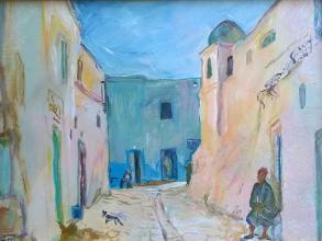 "Тата Тарасова, ""Тунизийски мотиви - старец"", 30х40"