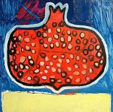 <p>Trendafila Trendafilova, <em>Pomegranate with red background</em>, 40х40</p>