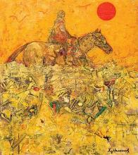 Rider in the desert, 61х50