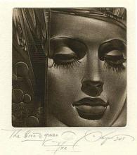 Bronze queen, mezzotint
