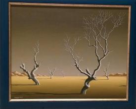 """""""Жълто поле"""", 40х50, маслени бои/платно"""