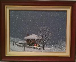 """""""Зимна вечер"""", 30х40, маслени бои/платно"""