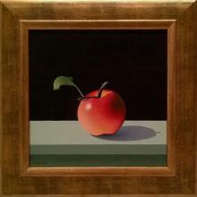 """Ябълка"", 30х30, маслени бои/платно"