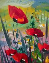 Hikmet Chetinkaya, Poppies, 25х20