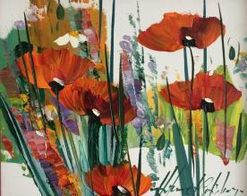"""""""Poppies"""", 20х25, oil on canvas"""