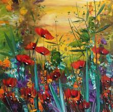 """""""Poppies"""", 50х50, oil on canvas"""
