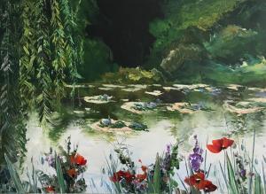 """""""Макове"""", 50х70, маслени бои/платно"""