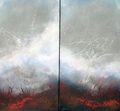 <p>Tom Hartwig, <em>Volcano painting</em>, 80х80</p>