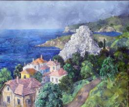A memory for Balchik, 50х60, oil on canvas