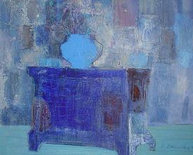 Zdravka Vasileva, <em>In blue</em>, 46х55, oil on canvas