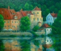"""""""Пейзаж от Ландсберг II"""", 60х70, маслени бои/платно"""