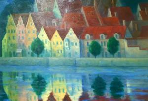 """Пейзаж от Ландсберг I"", 60х70, маслени бои/платно"