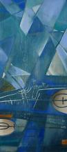 """""""Landscape"""" / 63x26 / acrylic, wood"""