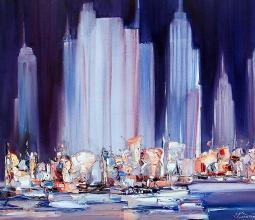 Night in Manhattan, 54х65, oil on canvas