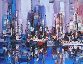 Southern Manhattan, 40х50, oil on canvas