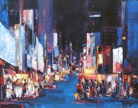 Nightly Broadway, 40х50, oil on canvas