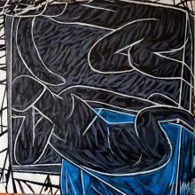 """""""Една нощ"""", 70х70, маслени бои/платно"""