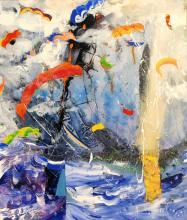 Nikolay Nyagolov - <em>Kite</em>, 70х60, acrylic on canvas