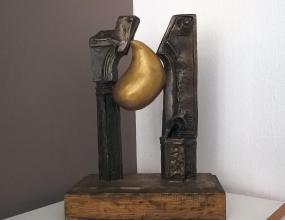 Nikolay Savov, <em>One door</em>, bronze