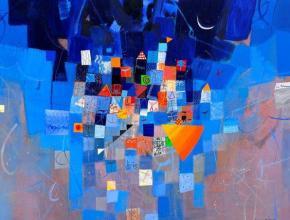 Falling in the night, 100х130, acrylic on canvas