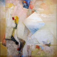 "<span id=""result_box"" class=""short_text"" lang=""en""><span class="""">Structure of Emptiness</span></span> II, 90х90, oil on canvas"