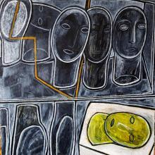 Iliana Manukova, <em>Faces</em>, 70х70, oil on canvas