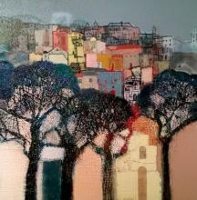 Nedko Itinov, <em>Landscape of Toskana</em>, 65х65, acrylic on canvas