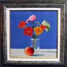 Ivan Hristov-Groga, <em>Still life with apple</em>, 30х30, oil on canvas