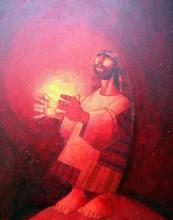 """""""Светлина"""", 55х46, маслени бои върху платно"""