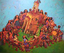 """Сбор"", 93х113, маслени бои върху платно"