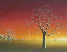 Sunset, 27х35, oil on canvas