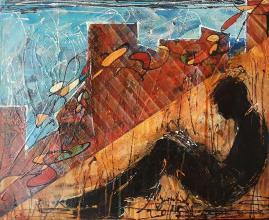 """""""High"""" - 38x46 - acrylic on canvas"""