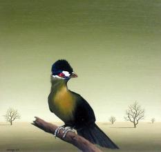 """Странна птица"", 30х30, маслени бои/платно"