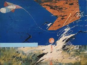 """""""The moon trail""""-38x46 - acrylic on canvas"""
