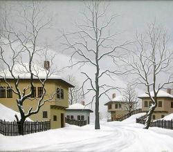 """Зима в Балкана"", 60х70, маслени бои/платно"