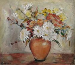 """""""Цветя"""", /32х42/, маслени бои върху платно"""