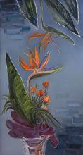"""""""Цветя"""", /100х52/, маслени бои върху платно"""