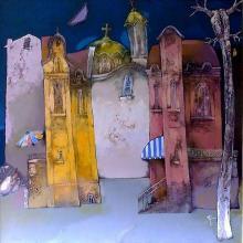 """""""Старият квартал"""" - /80х8/ - маслени бои върху платно"""