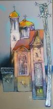 """""""Стара църква"""" - /80х40/ - маслени бои върху платно"""