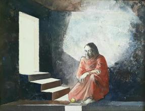 """Здравко Палазов - """"Светлина"""" /27х35/ м.бои, платно"""