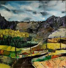 "Zdravko Palazov - ""Landscape"" /35х35/ oil paints on canvas"
