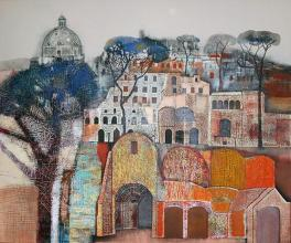 "Nedko Itinov- ""Roman Forum""/100x120/acrylic paint on canvas"
