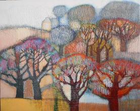 """Nedko Itinov- """"Autumn"""" II/81x100/acrylic paint on canvas"""