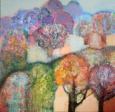 "Nedko Itinov- ""In the evening""/110x100/acrylic paint on canvas"
