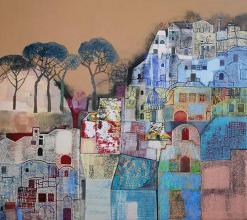 "Nedko Itinov- ""Landscape from South Italy""/100x110/acrylic paint on canvas"