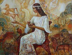 """""""Тракийски ритуал"""" - /50х65/"""