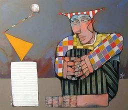 """Равновесие"", 63х73, маслени бои/платно"